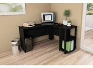 L-Shaped Desk with Side Storage