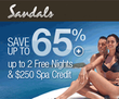 Sandals - Save up 65% + Up to 2 Free Nights & $250 Spa Credit + Free Catamaran Cruise at Select Locations