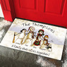 Personalized Snowmen Stick Family Doormat