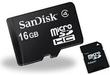 Sandisk 16GB MicroSDHC Flash Card with Adapter