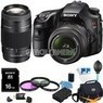 Sony Alpha 16.1MP DSLR 2-Lens Ultimate Bundle