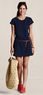 Women's T-shirt Cover-up Dress from Lands' End Canvas