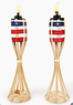 2-Pack USA Flag Tabletop Torches