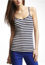 Womens Striped V-Neck Cami