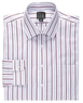 Men's Executive Collection Spread Collar Stripe Dress Shirt