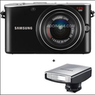 Samsung NX100 AF DSLR Camera Black with 20-50mm Flash