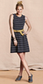 Canvas Women's Sleeveless Striped Dress