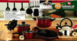 Kitchen Gourmet 20-Piece Professional Cookware Set