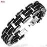 Men's Stainless Steel and Rubber Bracelet