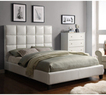 Sarajevo Queen-Sized White Faux Leather Bed