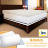 Serta Rejuvenator Dual-layer 4 Memory Foam Mattress Topper