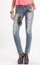 Young & Faded Women's Belted Skinny Jeans