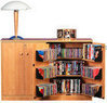 Oak TV Stand w/ Double Locking Cabinet