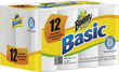 12 Rolls of Bounty Basic Perforated Paper Towels