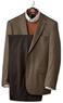 Men's Tailored Fit 2-Button Coat and Pleated Front Trousers