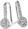 1/4ct Diamond 10K White Gold Earrings