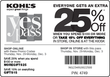 Kohl's - 15% Off Entire Purchase / 25% Off $100+ Purchase (Printable Coupon)