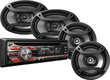 Pioneer iPod-Ready In-Dash Receiver + 4 Speakers