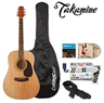 Jasmine by Takamine S35 Acoustic Dreadnought Guitar Bundle