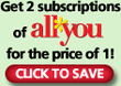 All You Magazine - Get 2 Subscriptions for the Price of 1!