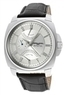 Jorg Gray Dual Time Silver Dial Black Genuine Leather Watch