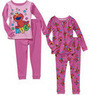 Baby Girls' Character Cotton Pajamas, 2 Sets
