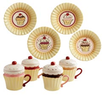 12 Piece Red Velvet Cupcake Mug and Plate Set for 4