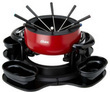 Oster Red Stainless Lazy Susan Fondue