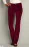 Curvy Velveteen Boot Cut Pants