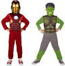 Marvel Avengers Iron Man and Hulk Dress-Up Costume Set