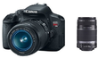 Canon EOS Rebel T4i Camera w/ 18-55mm + 55-250mm Lenses