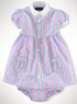 Infant Girls' Striped Oxford Shirtdress