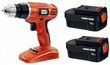 Black Decker 18V Cordless Drill w/ 2 Batteries (Refurbished)