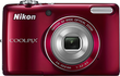 Nikon Coolpix L26 16.1MP Red Digital Camera (Refurbished)