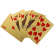 24K Gold-Plated Playing Poker Cards