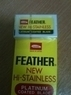 Feather New Hi Stainless Double Edge Razor Blades (100-pack)