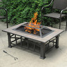 Rectangular Tile Top Fire Pit