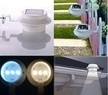Solar Gutter Light Fence Lamp Water Resistant Switch