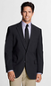 Men's Logo Washable Wool Suit Coat