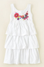 Girls' Embroidered Tiered Dress