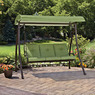 Mainstays Green Leaf 3-Seater Outdoor Swing with Canopy