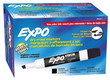 Expo Low Odor Chisel Tip 12 Black Dry Erase Markers