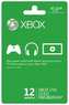 Xbox 360 Live 12 Month Gold Membership Subscription Card