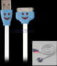 39 Smiley Face USB Flat Charging Cable