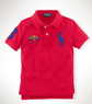 Boys' Cotton Big Pony Flags Polo