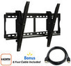Tilting Wall Mount for 37 to 70 TVs + HDMI Cable