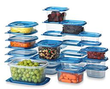 54-Piece Clear & Blue Food Storage Set