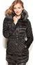 GUESS Hooded Faux-Fur-Trim Quilted Puffer Coat