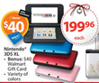 Nintendo 3DS XL + $40 Walmart Gift Card (In-Store Only)