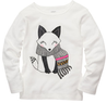 Toddler Girls' Long-Sleeve Fox Tee